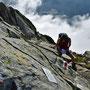 Schwindelfreie dürfen sich im Gipfelbuch eintragen