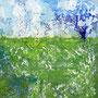 Frühling, 2014, Acryl-Mischtechnik, 30 x 30 cm