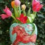 Vase mit rotem Pferd, 2012
