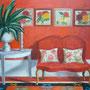 Roter Salon, Öl, 2009, 90 x 110 cm