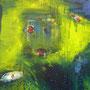 o. T. 2 2013, Detail, Acryl, 120 x 100 cm