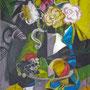 Stillleben mit Blumen und Früchten, Acryl, 2009, 60 x 80 cm