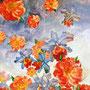 Rain of the Flowers, Aquarell-Acryl-Mischtechnik, 100 x 120 cm