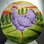 Hahnenkönig, Keramikschale Durchmesser 40 cm