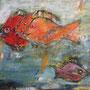Happy Fish, 2013, Acryl Mischtechnik, 120 x 100 cm