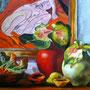 Stillleben mit Antulien, Öl, 2009, 50 x 60 cm