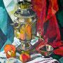 Stillleben mit Samowar, Acryl, 2008, 50 x 60 cm