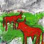 Red Bulls, 2014, Acryl Mischtechnik, 60 x 80 cm