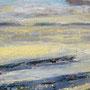 Winter auf der Hallig, 2014, Acryl-Mischtechnik, 40 x 50 cm