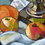 Stillleben mit Samowar, Detail, Acryl, 2008, 50 x 60 cm