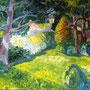 Nachmittag im Garten, Öl, 2011, 90 x 110 cm