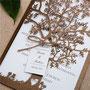 Lasercut Hochzeitskarte Wedding Tree Standardfarbe Brown Shimmer