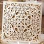 Lasercut Karte #B0019 Ivory Shimmer
