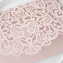 Lasercut Pocketfold Karten #LPFC2128 in Blush Shimmer Detail Ornament
