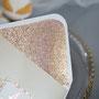 Inlay für die Kuverts in Glitter Rose Gold