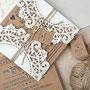Vintage Lasercut Karte Hochzeitseinladung mit Kordel und tag #B0067