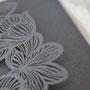 Lasercut Pocketfold Karte #LPFB2120, Farbe: Grey Shimmer
