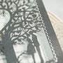 Lasercutkarte #C9989 - A5 Format in Sonderfarbe Grey Shimmer