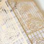 Lasercut Karte #B0172, Sonderfarbe Metallic Gold