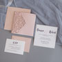 Lasercut Pocketfold Karten #LPFC2129 in Blush Shimmer
