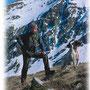 Ivo con la Diva e l'Aston dopo la vittoria all'europeo selvaggina alta montagna