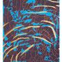 39:  MANA KU – LIKE – Die formverändernde Kraft / 2015 / Mischtechnik auf Leinwand / Zweimal 50x60 (Bilderduo mit 40) – Original: CHF 2000
