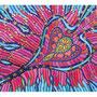 35: ALOHA MANAWALE'A – Grosszügiges Herz in Liebe verbunden/ 2015 /Filzstift und Acryl auf Papierkarton /100x70 – gerahmtes Original: CHF 2500