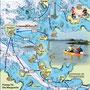 La carte détaillée du plan d'eau