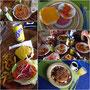 kleine Auswahl unseres Essens im Hostel am Strand und in der Stadt