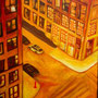 Angle rouge sur New York ( huile sur toile 81x65 )