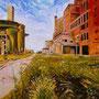 L'usine abandonnée ( Huile sur toile 100x81).