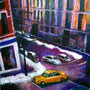New York urban jungle night (huile sur toile 51x60 )