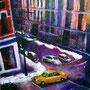 New York urban jungle night (huile sur toile 51x60 )