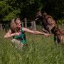 buiten trainen aan de dogdance
