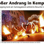 Fantômes de Flammes bei der Kemptner Shopping Night