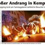 Fantômes de Flammes bei der Kemptner Shopping Night