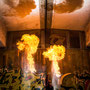 Feuershow in Augsburg