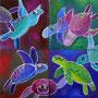 'Turtlesongs' (4 x 20 x 20 cm)