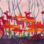 'Füchse und Rehe' (60 x 100 cm)