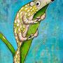 'Frisch verliebtes Pangolin' (50 x 60 cm)
