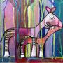 'Okapis' (60 x 80 cm)