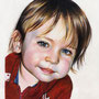 Mon petit garçon/My son - Crayons de couleur/Colored pencils Faber Castell 'polychromos', Prismacolor , Derwent 'drawing' - A5 - Daler Rowney 220g - Septembre2014