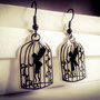 Caged Fairy Earrings