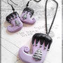 Pastel Goth Christmas Stocking Earrings & Necklace
