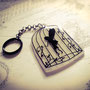 Caged Fairy Keychain