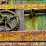 "tOG-M.S.027 - ""The rusty wheeles of time are never staying still"" - Steel Industry Ruhrgebiet NRW Germany - Cycle/ worked-OUT- 2012 - Edition 2/ 33 x 50 cm, Echtfotoabzug Alu-Dibond mit UV-Laminierung - Courtesy tOG-Düsseldorf (c) M. Sander"