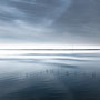"tOG-M.S.006 - ""OCEAN BLUE I"" - Netherland - Cycle/ Touched Landscapes - 2014 - Edition 1/ 110 x 110 cm, Echtfotoabzug Alu-Dibond mit UV-Laminierung - Courtesy tOG-Düsseldorf (c) M. Sander"