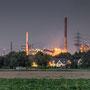 """tOG-M.S.051 - """"Stahl im Garten"""" - Steel Industry - NRW Germany - Cycle/ @work- 2015 - Edition 2/ 60 x 132 cm, Echtfotoabzug Alu-Dibond mit UV-Laminierung - Courtesy tOG-Düsseldorf (c) M. Sander"""