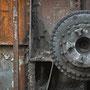 """tOG-M.S.026 - """"Immer am Rad drehen"""" - Steel Industry Ruhrgebiet NRW Germany - Cycle/ worked-OUT- 2012 - Edition 2/ 38 x 38 cm, Echtfotoabzug Alu-Dibond mit UV-Laminierung - Courtesy tOG-Düsseldorf (c) M. Sander"""