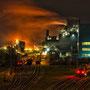 "tOG-M.S.054 - ""NachtOrange"" - Steel Industry - NRW Germany - Cycle/ @work- 2012 - Edition 2/ 60 x 87,5 cm, Echtfotoabzug Alu-Dibond mit UV-Laminierung - Courtesy tOG-Düsseldorf (c) M. Sander"